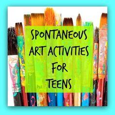 Espontáneas de arte Actividades Terapia para adolescentes - El arte de la curación emocional