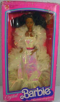 Mattel Afro American Crystal Barbie 1983.