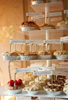 Assorted mini pies by Wedding Cakes by Jim Smeal | Brides.com