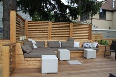 Montreal Outdoor Living – Urban Backyard Patio & Terrace in Hampstead Deck Seating, Garden Seating, Outdoor Seating, Outdoor Spaces, Outdoor Living, Outdoor Decor, Deck Benches, Patio Bench, Banquette Seating