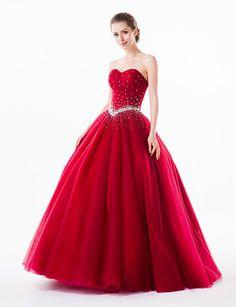 Vestido Corte Evasé - Escote Corazón - Hasta el Suelo - EUR € 179.99