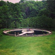 The water garden at the Felt Mansion | The Grounds ...