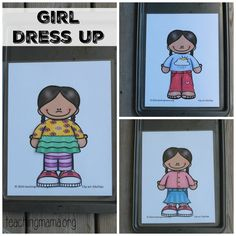 Spring Clothes Dress Up Busy Bag {Free Printable}