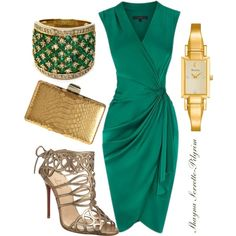 """Classy green"" by shaynapilgrim on Polyvore SEXY  CHIC!"