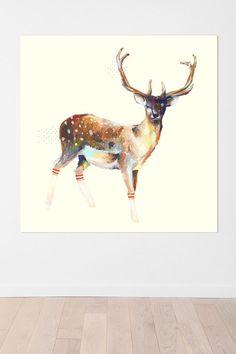 charmaine olivia deer wearing gym socks wall mural