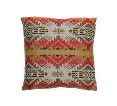Pillow cover made with genuine Pendleton fabric, Wool Throw Pillow, Cushion Cover, Navajo, Southwestern Design