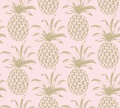 Add some punch to your walls with this divine Aimee Wilder Pina Sola Pineapple Wallpaper {pink with gold} #SwellCarolineRecommends