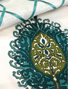 Alfred Shaheen Suburban Home Fabric from Duralee Fabrics  #fabrics #textiles