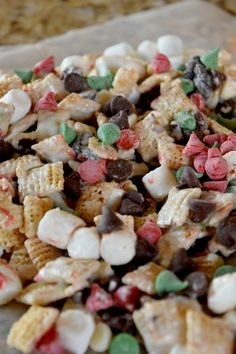 Snowman Mix: Sweet Christmas Chex Mix by This Little Home of Mine