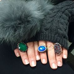 What's in your glove? SHOP NOW at www.jenkdesignsny.com #allofasudden #cold #impending #snow?night #opal #emerald #gold #diamond #sapphire #rings #love #valentine #color #jenk