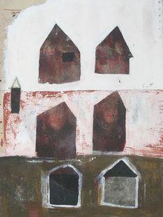 "Saatchi Art Artist Scott Bergey; Painting, ""House To House"" #art"