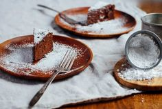 flourless chocolate cake with ginger and sea salt // brooklyn supper