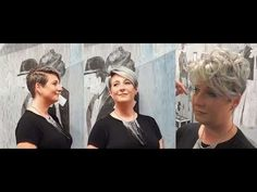 short pixie haircut, granny / grey hair, undercut hairstyle, 2017 makevover by Alves & Bechtholdt - YouTube
