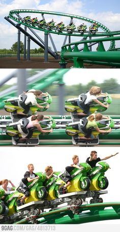 Awesome Roller Coaster as Biking!