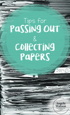 If you're drowning in unfinished student worksheets then this post is for you! These tips for collecting and passing out papers will help you and your students stay organized and focused on learning. #classroommanagement
