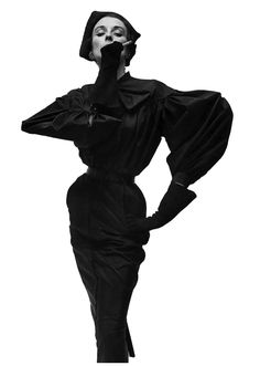 Dorian Leigh - Balenciaga Vogue 1950 photographed by Iirving Penn    Super!!! Exquisite beauty