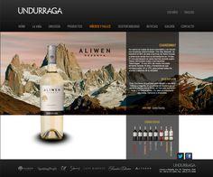 Propuesta sitio web Viña Undurraga / Interiores #wine #web #design