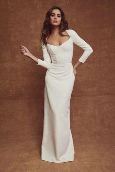Sarah Seven x TBA - Abigail is Italian — The Bridal Atelier - Wedding Dresses - Melbourne & Sydney Stores Stunning Wedding Dresses, Wedding Dresses For Girls, Bridal Dresses, Girls Dresses, Sleek Wedding Dress, Wedding Attire, Wedding Gowns, Girls Boutique Dresses, Blue Bridal