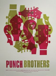 Punch Brothers by Dirk Fowler via GigPosters.com
