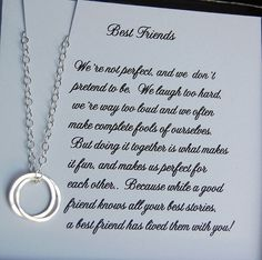 Best Friends Necklace Bridesmaid Gift by SoBlessedDesigns on Etsy, $36.00