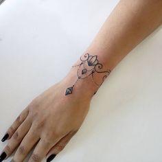 Wrist Charm Bracelet Tattoo