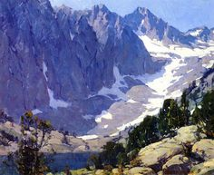 Edgar Payne,Sierra Peaks oil painting reproductions for sale Mountain Landscape, Landscape Art, Landscape Paintings, Oil Paintings, Mountain Art, Oil Painting On Canvas, Canvas Art Prints, Painting Frames, Edgar Payne