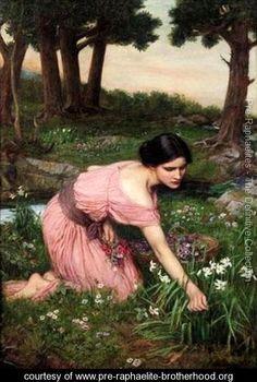 Spring Spreads One Green Lap of Flowers 1910 - John William Waterhouse - www.pre-raphaelite-brotherhood.org
