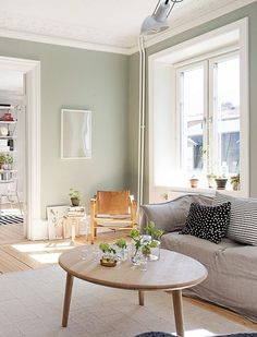 Gray and Sage Green Bedroom. Gray and Sage Green Bedroom. Gray and Sage Green Bedroom Gray and Sage Green Bedroom Sage Living Room, New Living Room, Living Room Modern, Home And Living, Living Room Decor, Simple Living, Room Paint Colors, Living Room Colors, Living Room Paint