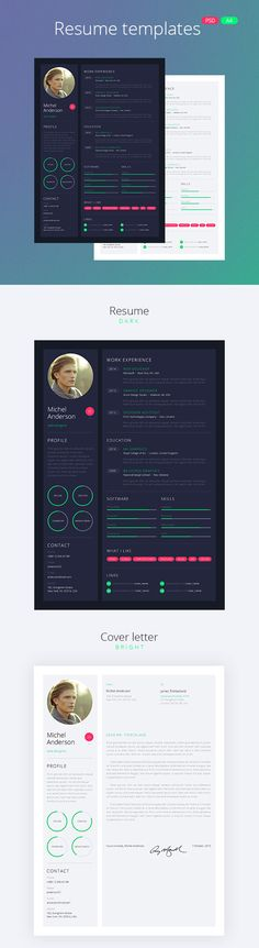 Mono Resume With Minimal Design Template Pinterest Creative - new style resume templates