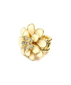 Look at this Amrita Singh Ivory Greenport Stretch Ring on #zulily today!