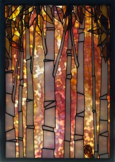 Teresa Seaton Stained Glass Gallery Trees - Amethyst is working on something like this in Could It be Magic