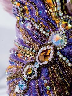 Evening dress by Blanka Matragi Detail