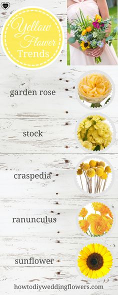 yellow bouquet yellow wedding trends diy flowers bouquets weddings ideas how to make a bouquet ideas