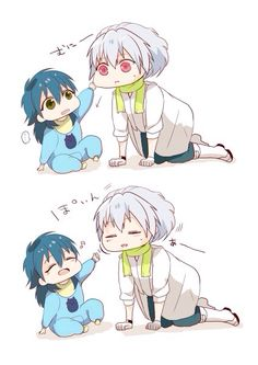 Clear and Baby Aoba (the cuteness is killing me) | Dramatical Murder
