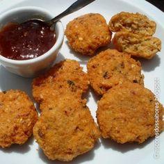 Fritos de lentilhas vermelhas (Masoor Dhal Masala Vadai)