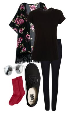 """""""Tyler Joseph Inspired"""" by thefangoddess ❤ liked on Polyvore featuring Giorgio Armani, Vince, Vans, Hue, women's clothing, women's fashion, women, female, woman and misses"""