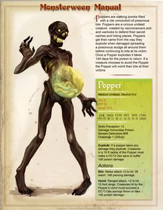 ::vile:: ArtStation - Monsterween Manual Part 1, Stephen Wood