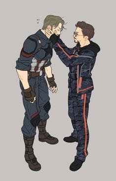 Stony || Avengers Infinity War || Steve x Tony || Cr: Yukko