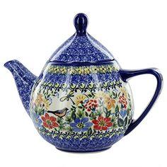 Polish Pottery Bird Teapot