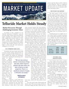 Telluride Assoc. of Realtors 1st Quarter Overview pg. 1