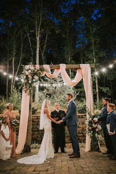 Personal Wedding ceremonies - Tiny Marriage Site - DIY Wedding ceremony Ideas for Tiny and Romantic Weddings - Real Tiny Weddings Small Intimate Wedding, Intimate Weddings, Real Weddings, Intimate Wedding Ceremony, Unique Weddings, Barns For Weddings, Arbors For Weddings, Outdoor Night Wedding, Very Small Wedding