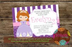 Princess Birthday Party InvitationInspired by by InvitasticInvites