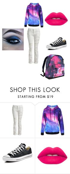 """""""Galaxy"""" by dark-soul335 ❤ liked on Polyvore featuring Sans Souci, Converse, Lime Crime and Hot Tuna"""