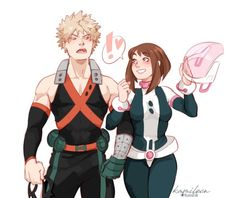 my hero academia Boku Academia, My Hero Academia Memes, Hero Academia Characters, My Hero Academia Manga, Buko No Hero Academia, Fictional Characters, Couples Cosplay, Anime Couples, Bakugou And Uraraka