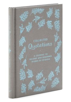 Collected Quotations Journal by Chronicle Books - Multi, Vintage Inspired, Dorm Decor, Graduation