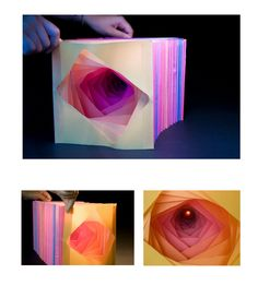 "dina makarita- dream tunnel book ""down the rabbit hole"" (3D paper city/ Fall 09')"