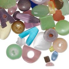 Beads Cat's Eye Glass Mixed Colors $4.43