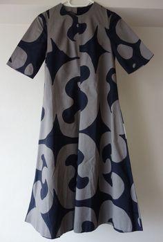 Vintage sixties Marimekko A line dress Keidas 1960s abstract