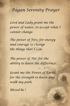 pagan serenity prayer