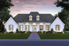 House Plan 4534-00038 - French Country Plan: 2,350 Square Feet, 4 Bedrooms, 3.5 Bathrooms French Country House Plans, Modern Farmhouse Plans, Acadian House Plans, Country Houses, Country Farmhouse, Farmhouse Decor, Madden Home Design, Best House Plans, Walk In Pantry